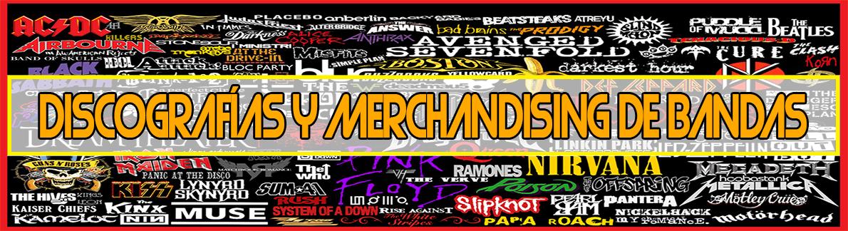 Discografía y merchandising de bandas