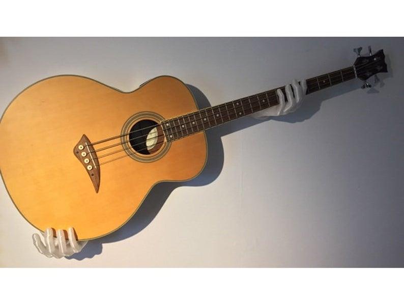 colgador doble de guitarra