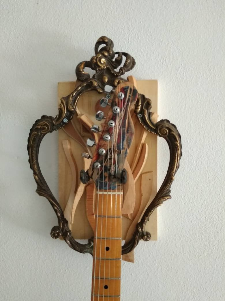 colgador especial de madera para guitarra