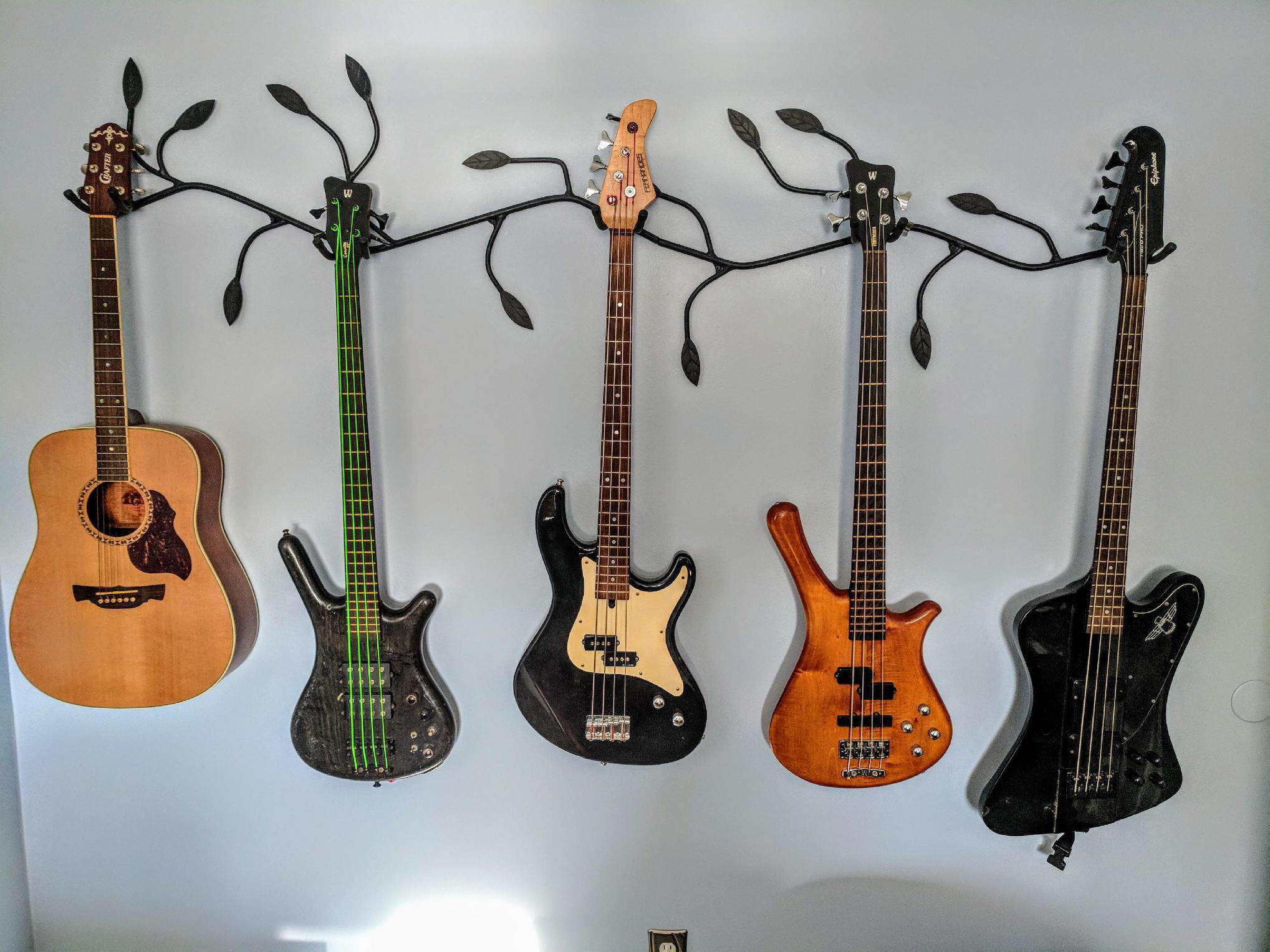 colgador de guitarra estético