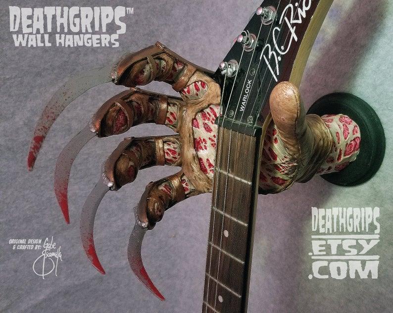 colgador guitarra terror