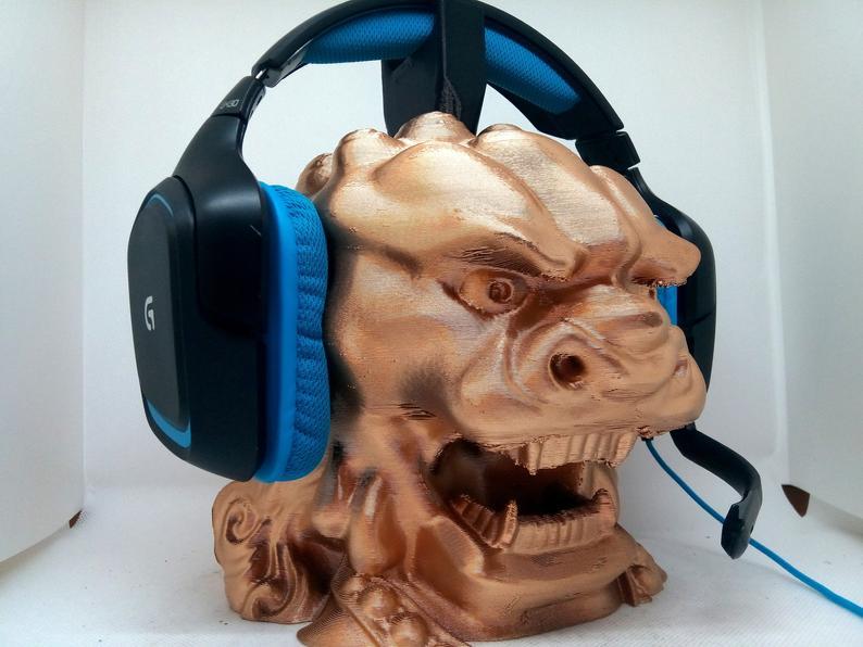 headphone head dragon