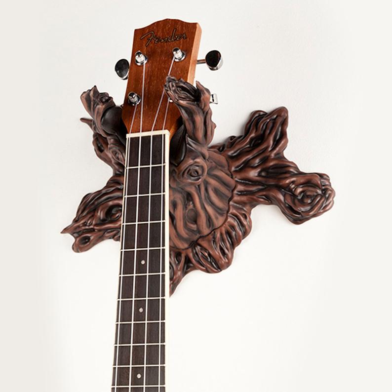 colgador guitarra tronco