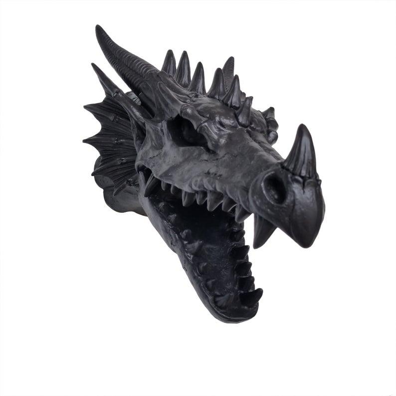 cráneo de dragón para pared